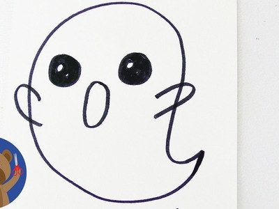 KAWAII strašidlo - jak je namalujete za necelou 1 minutu
