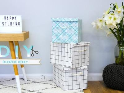 Úložné boxy z papírových krabic | WESTWING DIY