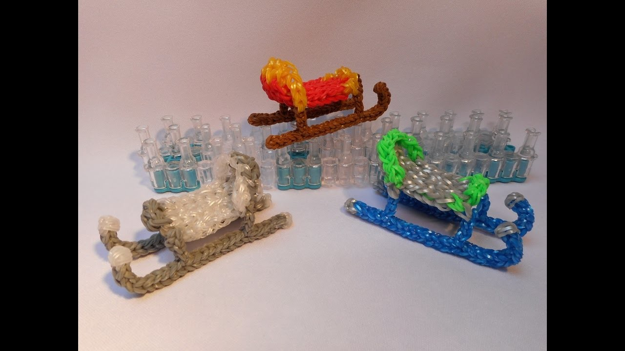 3D Sáně z gumiček