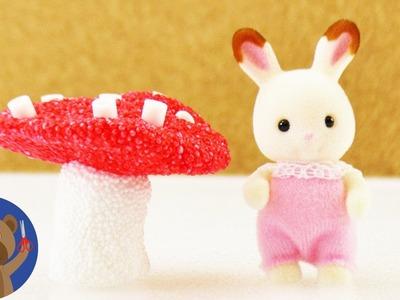 Mochomůrka nebo jiné houbičky z foam clay - dárek pro štěstí