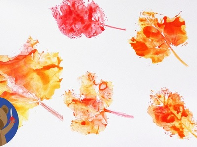 Razítka z podzimních listů - hezká a jednoduchá dekorace