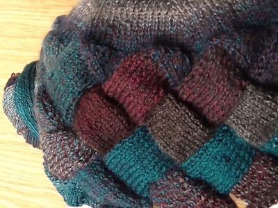 Škola pletení - Entrelac čepice 2. díl, Hat knitting school