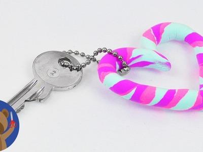 DIY Silk Clay přívěšek na klíče - super jednoduché a krásné