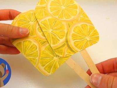 DIY Zmrzlina na dřívku - pozvánka na zmrzlinu nebo hezká dekorace z barevných papírů