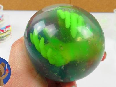NEJSTRAŠIDELNĚJŠÍ antistresový balónek světa - sliz a ruce příšer - DIY míček