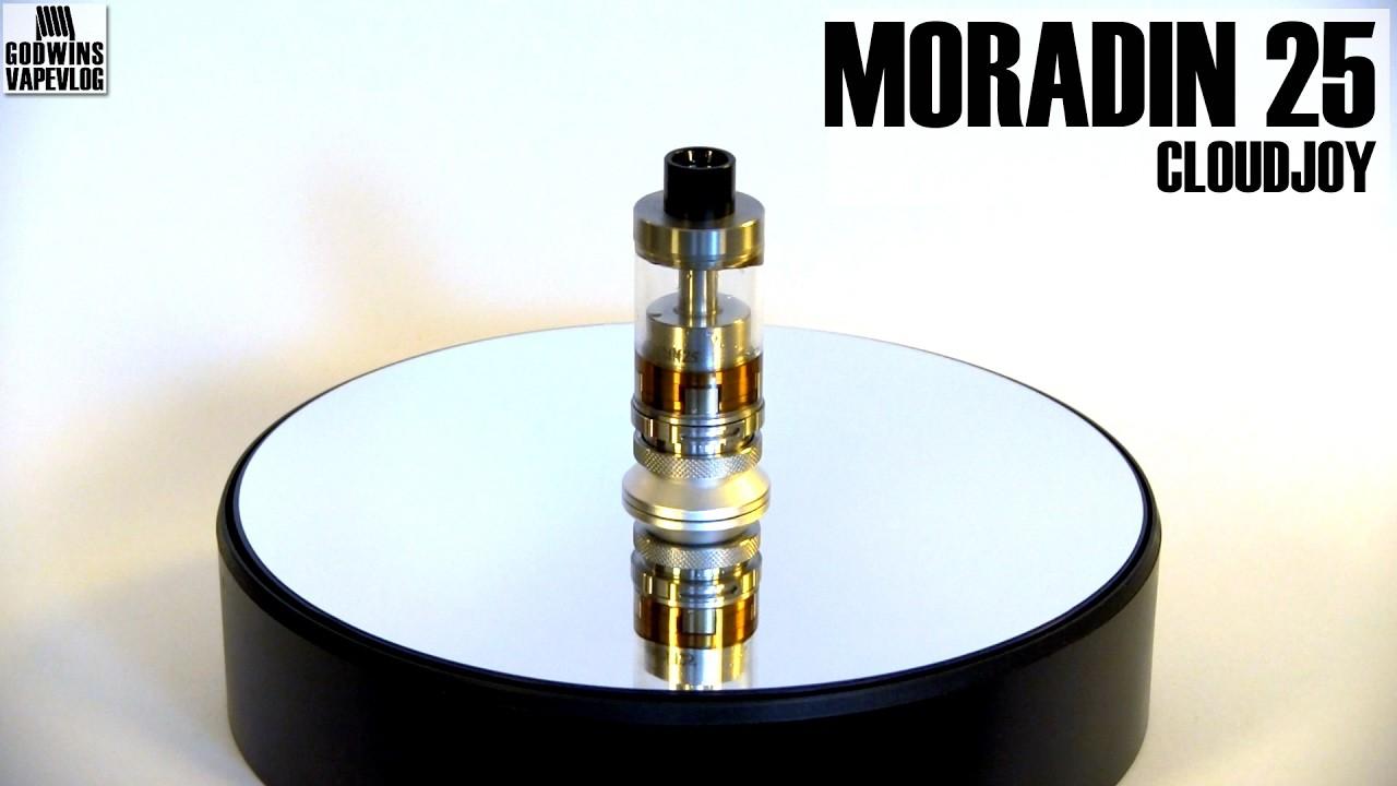 DIY Atomizer - CloudJoy Moradin 25 RTA - Review (CZ)