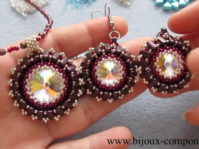 EMMA set made from eMMA, Swarovski and TOHO beads - TUTORIAL