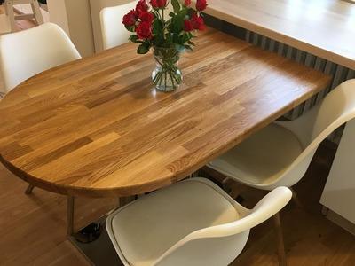 DIY oak kitchen table - dubovy stol do kuchyne