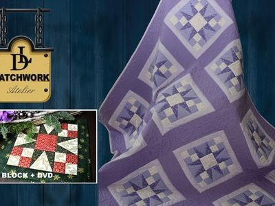 """Hvězda Patchwork - Patchworková přikrývka """"Purple Star"""""""