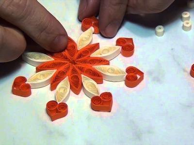 Quilling - vánoční hvězda - kurz online zdarma