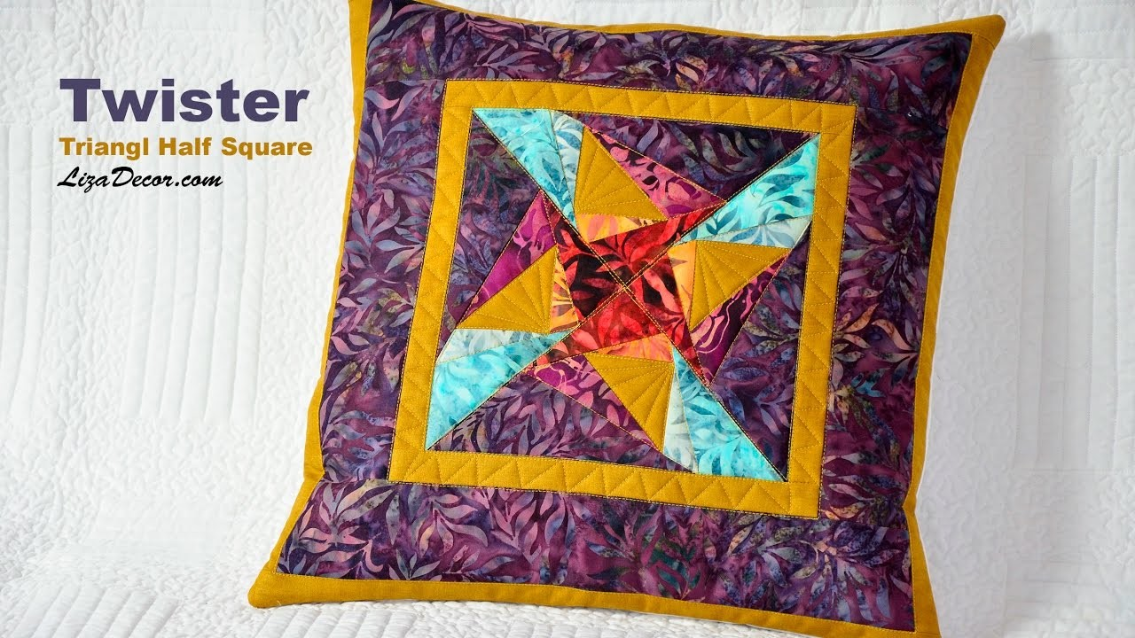 Patchwork Twister - Triangl Half Square