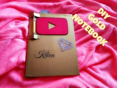#DIY Zlatý Notebook | Kiken