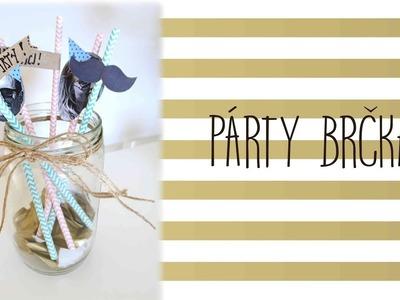 Párty brčka. dekorace na párty. diy party straws