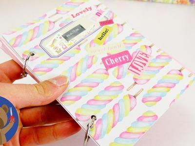 DIY poznámkový bloček - kroužkový blok - jak si sami uděláte snadno notýsek