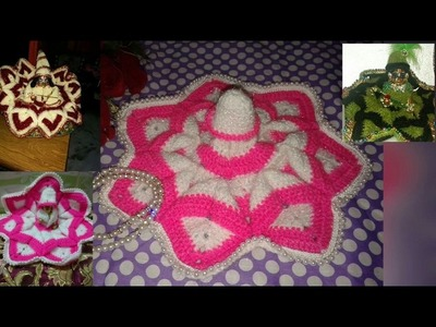 "Part 1.5.how to make.Beautiful.Crochet.dress.for.Bal gopal ji.kanha ji.laddu gopal.""Hare krishna ji"""