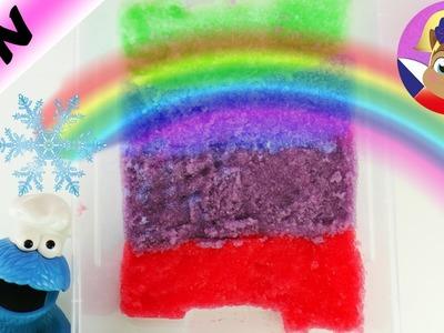Rainbow Gelli Snow | Barevný sníh nebo sliz? DIY s Cookie Monstrem