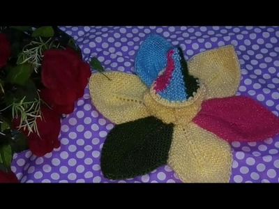 "Part 1.3.How to make.Knitted.star shaped. woolen.poshak.for.laddu gopal.krishna ji - ""Hare Krishna"""