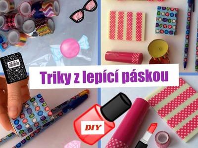 DIY nápady z dekorativní lepící páskou. Triky. Doplňky.