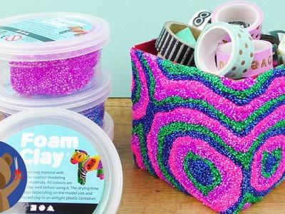 Krabička z Foam Clay - super DIY nápad na psací stůl - ze starého nové