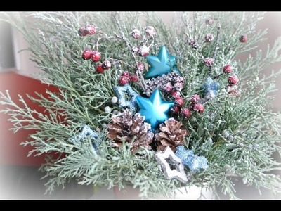 Vánoční dekorace na stůl. Jak vyrobit vánoční dekoraci. xmas decor